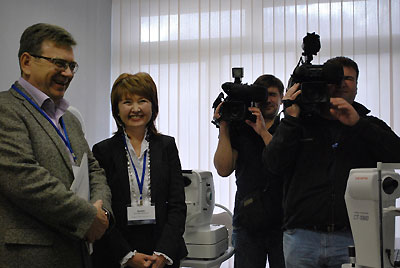 Потапов А.С.  и Кригер Г.С. общаются с прессой