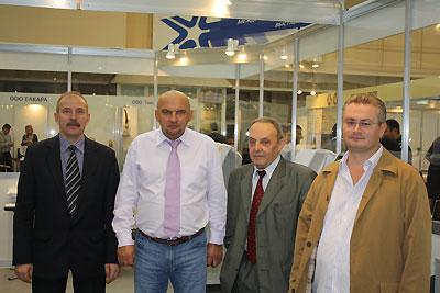 Члены Оргкомитета Конкурса (слева направо) Ерохин В.Е., Николаев В.Ю., Атласов Э.А., Соколовский Д.В.